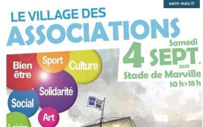 Village des Associations de Saint-Malo- Présentation de l'affiche par son auteur Pascal BRESSON