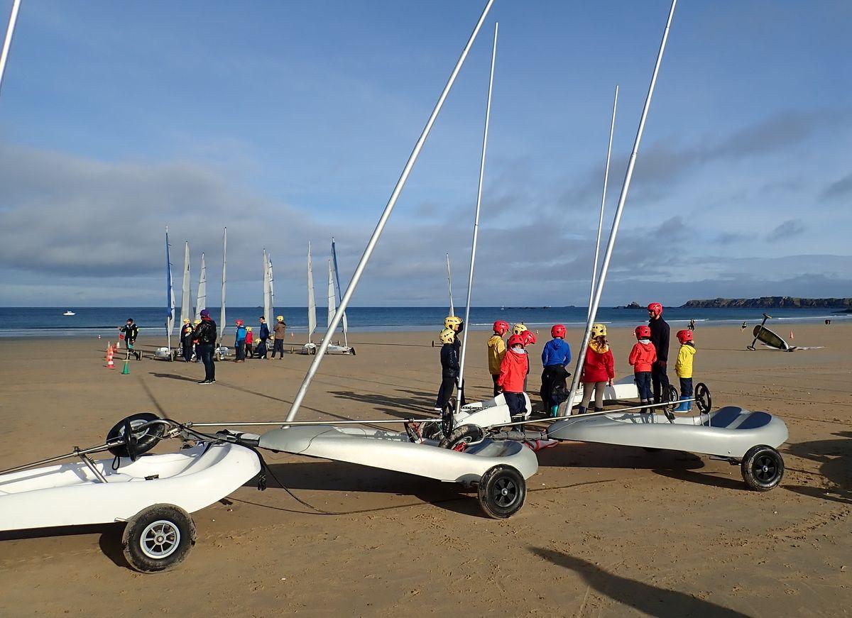 Associations sportives scolaires de Saint-Malo Char à voile