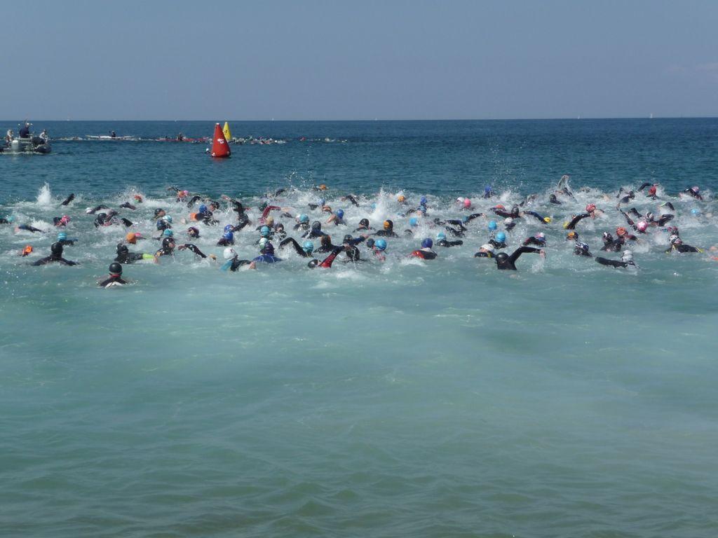 Triathlon de la Côte d'Émeraude à Saint-Malo natation