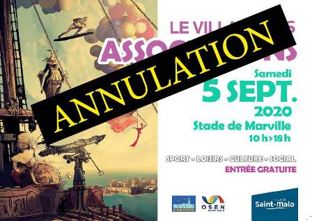 Annulation Village des Associations 2020